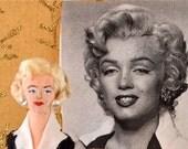 Marilyn Monroe Doll Miniature Art Character Old Hollywood