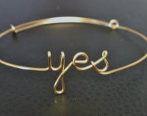 YES..Statement  bracelet , Custom Handmade Jewelry,wire wrap, 14 K Gold Fill,Sterling Silver, Copper.  Personalized jewelry .Gifts under 20
