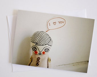 Love you boy - Greeting Card - Doll Photography