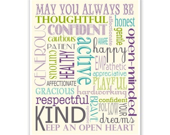 Children's Wall Art / Nursery Decor / Kid's Room Art May You Always Be ... - Poster Print by Finny and Zook