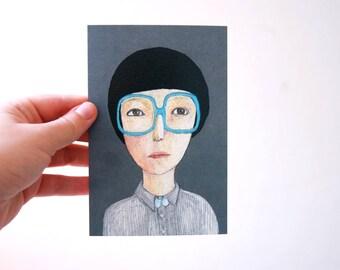 portrait  postcard