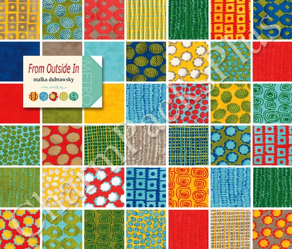 From Outside In By Malka Dubrawsky Moda Fabric Charm Pack