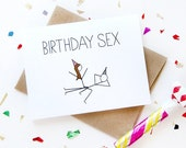 Funny Birthday Card - Birthday Sex Card - Boyfriend Birthday Card