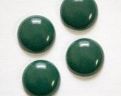 Vintage Hunter Green Acrylic Cabochons 18mm cab834D