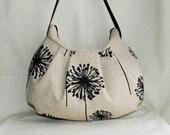 Pleated Bag // Shoulder Purse - Dandelion Black Denton