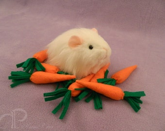 Little Sheltie Guinea Pig Plushie - White