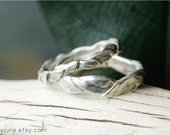 Silver Large Leaf Ring | Stacking Ring | Nature Inspired Ring