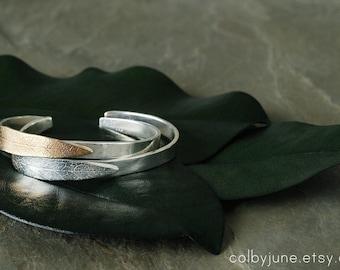 Bronze and Silver Leaf Cuff | Bronze and Silver Cuff  | Nature Inspired