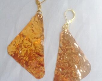 Spherical Copper Hammered Earrings
