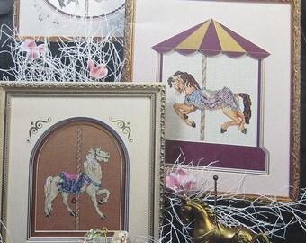 Carousel Dreams Horse Cross Stitch Pattern Book