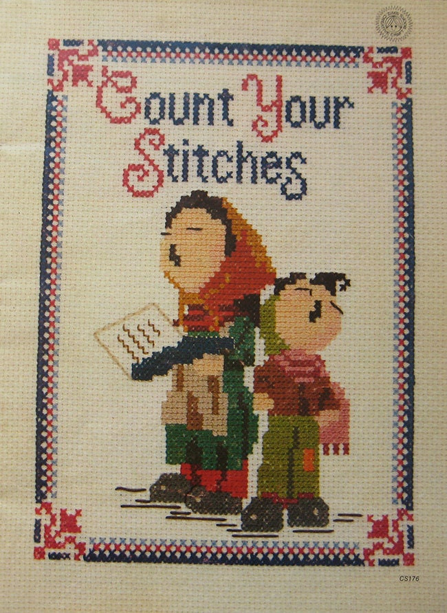 Vintage count your stitches cross stitch pattern book