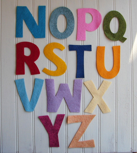 Wool Felt Letters Wool Felt Letters 3quot Tall Use For Banners Pick Your