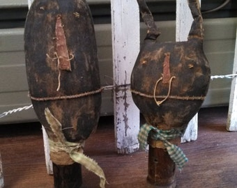 Primitive Spring Easter Little Bunny Make dos. WOW