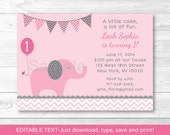 Pink Elephant Birthday In...