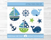 Cute Sailboat Clipart / W...