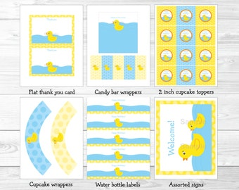 Rubber Duck Birthday Party Package INSTANT DOWNLOAD