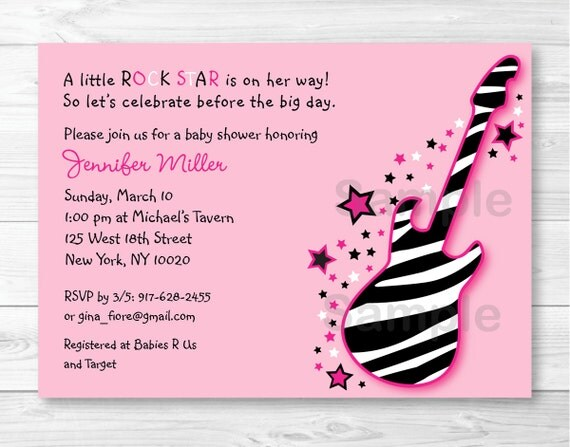 Cute pink rock star baby shower invitation rock star baby shower il570xn filmwisefo