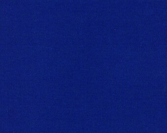ROYAL BLUE Cotton Interlock Knit Fabric, by the Yard
