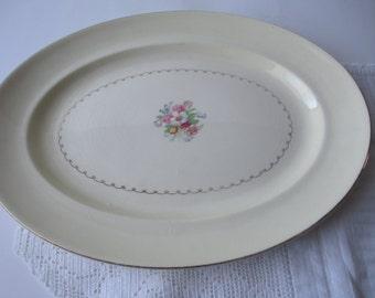 Vintage Paden Floral Serving Platter - Shabby Cute
