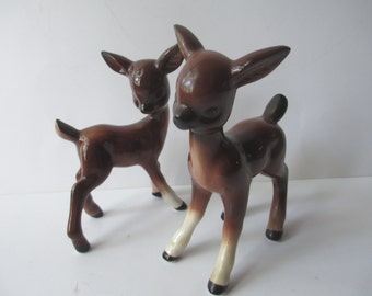 Vintage Ceramic Deer Figurines Set of Two - So Sweet