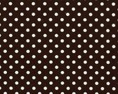 Dumb Dot in Brown---1 yard---Michael Miller Fabrics