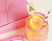 Wooden Drink Stirrers Personalized Initial Set of 50