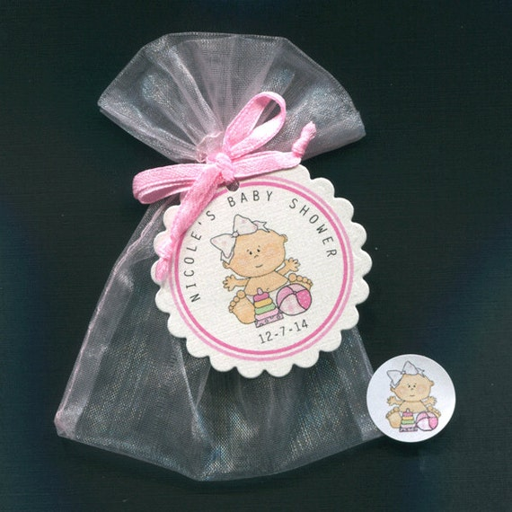 personalized baby girl baby shower favor candy bags baby girl with
