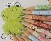 Hand wrapped mini pencils