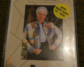 Crazy Quilt Bomber Style Jacket Pattern Size XS-XXXL by The Thread Lady Uncut