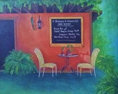 "Havana Cafe  - Original Painting 16"" x 20"""