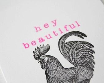 Hey Beautiful Card