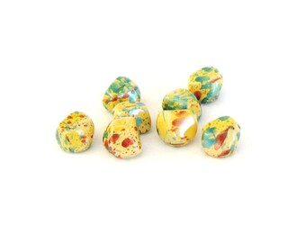 beads, bright, multicolor, acrylic, lightweight, nugget, C, beadsTher