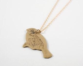 Bird Necklace - Bird Skeleton Necklace - Bird Skull - Bird Jewelry - Animal Totem - Put A Bird On It