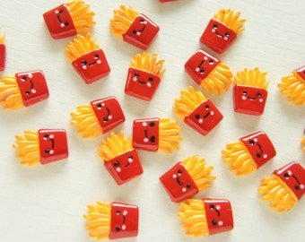 8 pcs French Fries Cabochon (12mm17mm) CD494