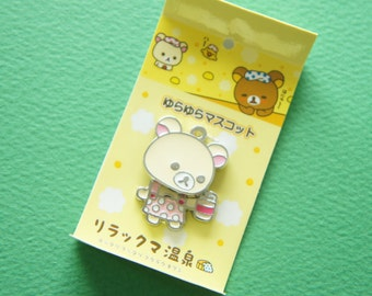 1 pc KoRilakkuma Swinging Charm (Holding Milk Bottle )