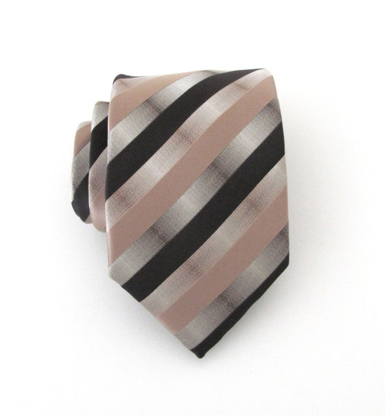 mens ties necktie brown taupe stripes mens tie