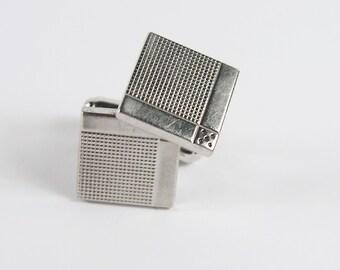 Vintage 60s Anson Silver Tone Cuff Links Cufflinks