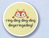 Ring Ding Ding Fox Cross Stitch Pattern PDF File