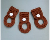 Towel Holders , Crochet Towel Hangers, Housewarming Gift, Home Decor,Removable, White Brown