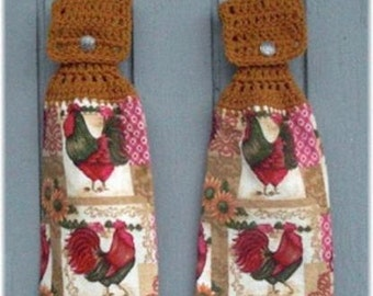 Hanging Kitchen Towels Roosters