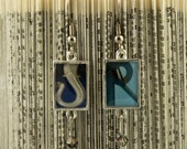 YOUR INITIALS in photo earrings with resin