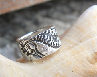 Beach Jewelry, Handmade Silver Seahorse Ring, Sterling Silver Beach Jewelry, Silver Beach Ring, Seahorse Jewelry Beach Ring, Seahorse Ring