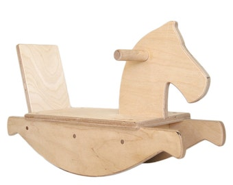 Rocking Horse Wooden Toy - Woodworking - Ride on Toy - Heirloom Furniture - Child's Rocking Toy - Horse Toy - Animal Toy - Horse -TY33