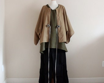 olive ginger corner linen outfit three pieces handmade to measure petite to plus size by annyschoo