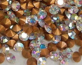 144 pp11 Crystal AB ss5 Swarovski Size 11 or 1.8mm Chatons Art 1012 Swarovski Crystal pp11 Crystal AB 11pp Art 1012 5ss Crystal AB Brillion