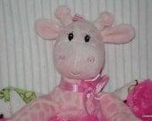 Security Blanket, baby blanket, luvi, lovie - Pink Giraffe