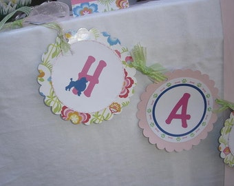Girl Puppy Party Banner