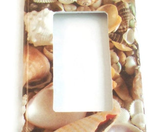 Rocker Switch Plate Light Switch Cover Switchplate  in Sea Shell (248R)