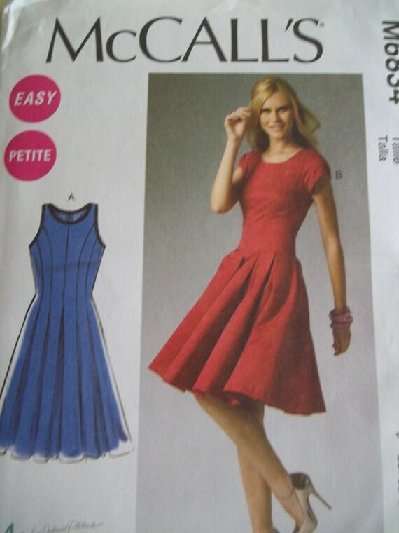 Fit Amp Flare Dress Pattern Mccalls 6834