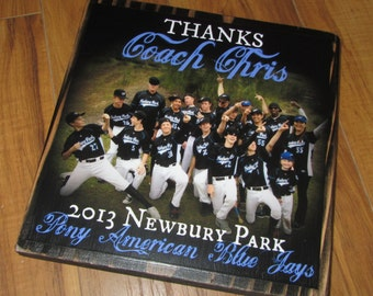 THANKS COACH- EXTRA large Photo Letter Blocks- 9 inch size